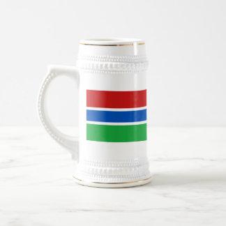 Mugg för karta för Gambia flagga~