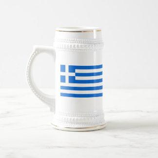 Mugg för karta för Grekland flagga~