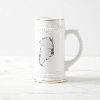 Mugg för karta för Grönlandflagga~