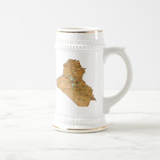 Mugg för karta för Irak flagga~