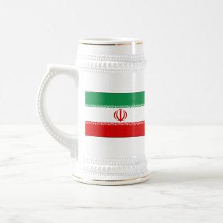 Mugg för karta för Iran flagga~