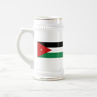 Mugg för karta för Jordanienflagga~