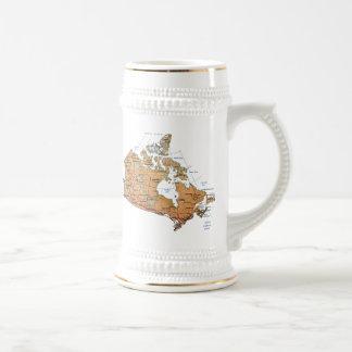 Mugg för karta för Kanada flagga~
