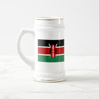 Mugg för karta för Kenya flagga~