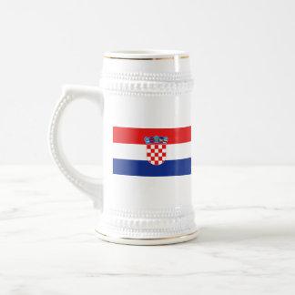 Mugg för karta för Kroatienflagga~