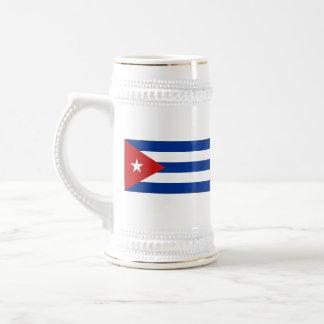 Mugg för karta för Kubaflagga~