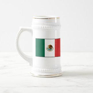 Mugg för karta för Mexico flagga~