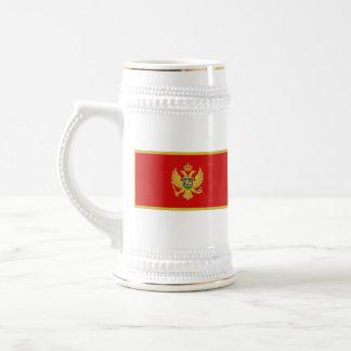 Mugg för karta för Montenegro flagga~