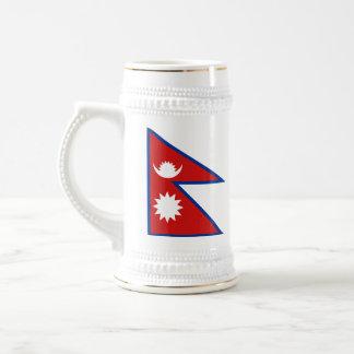 Mugg för karta för Nepal flagga~
