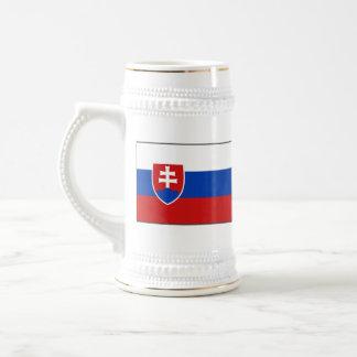 Mugg för karta för Slovakien flagga~