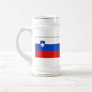 Mugg för karta för Slovenien flagga~