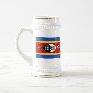 Mugg för karta för Swaziland flagga~