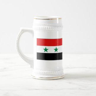 Mugg för karta för Syrien flagga~