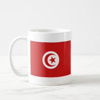 Mugg för karta för Tunisien flagga~
