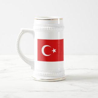 Mugg för karta för Turkiet flagga~