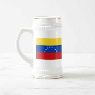 Mugg för karta för Venezuela flagga~