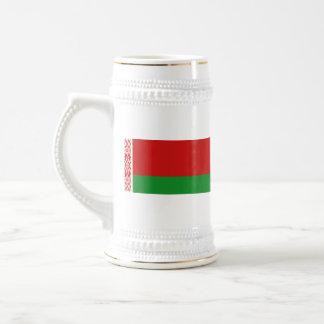 Mugg för karta för Vitryssland flagga~