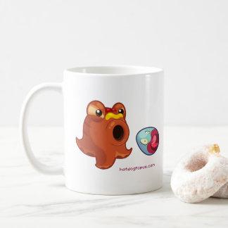 Mugg för kopp för vitHotdogtopus Hotdog med
