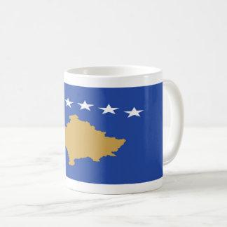 Mugg för Kosovo flaggakaffe