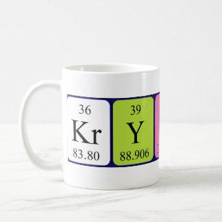 Mugg för Krystal periodisk bordnamn