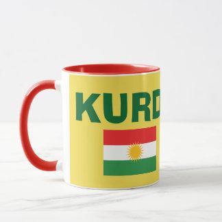 Mugg för Kurdistanflaggakaffe
