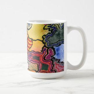 """Mugg """"för kvalster- och Tites"""" abstraktdesign"""