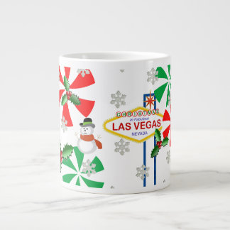 Mugg för Las Vegas julespresso Extra Stor Mugg