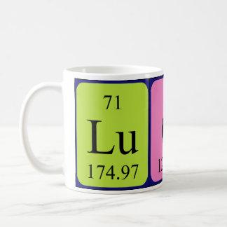 Mugg för Lucas periodisk bordnamn