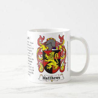 Mugg för Matthews familjvapensköld