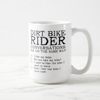 Mugg för Motocross för smutscykelkonversationer