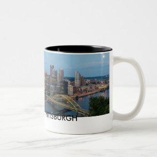 Mugg för Pittsburgh horisontkaffe