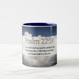 Mugg för Psalms22:26scripture