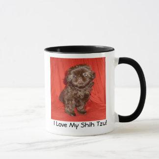 Mugg för Shih Tzu chokladvalp