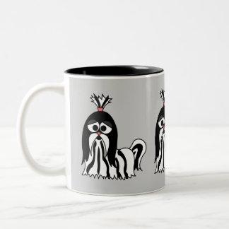 Mugg för Shih Tzu tecknadkaffe