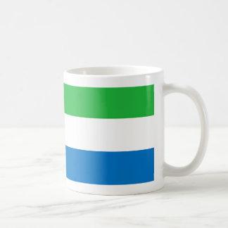 Mugg för Sierra Leone flaggakaffe
