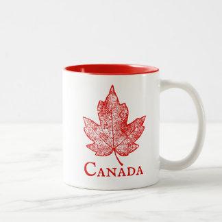Mugg för souvenir Kanada för röd lönnlöv skelett-