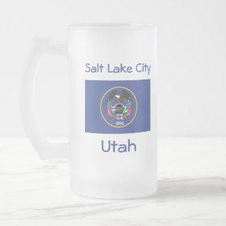 Mugg för stad för Utah flaggakarta