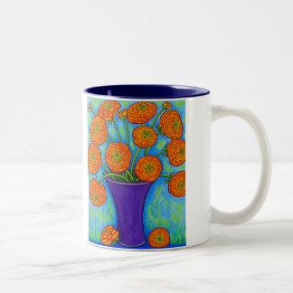 Mugg för strålpunktRanunculuskaffe