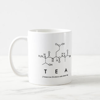 Mugg för Teapeptidenamn