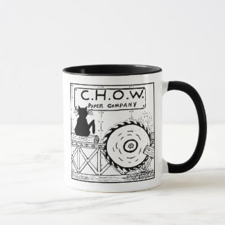 Mugg för tecknad för kattHatersSawmill
