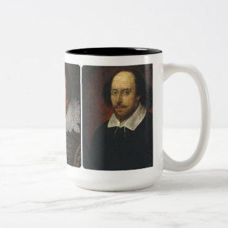 Mugg för tre Shakespeare porträtt