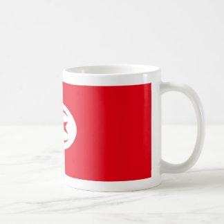 Mugg för Tunisien flaggakaffe