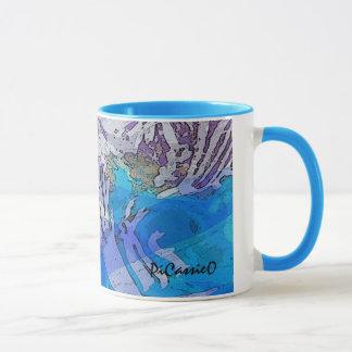 Mugg för vattenmusikkaffe i deppighet och lila