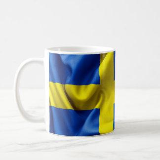 Mugg för vit för sverigeflaggaklassiker