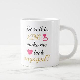 Mugg - förlovningsring - shock rosa jumbo mugg