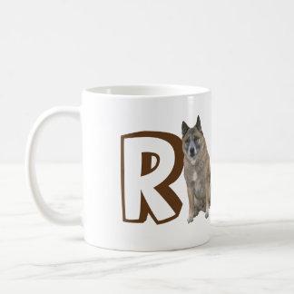 Mugg - hund och namn för brev R stor
