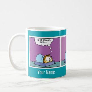 """Mugg """"julafton"""" Garfield för komisk remsa"""