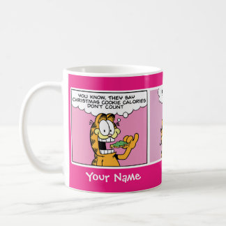 """Mugg """"kakakalori"""" Garfield för komisk remsa"""