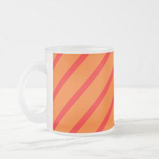 Mugg med diagonalt rött för rand - orange
