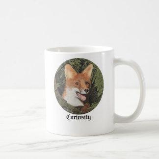 Mugg med en räv i trät